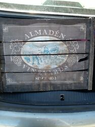Antique Rare Almaden Vineyards Shipping Crate Cover From 1st Cali Vineyard.