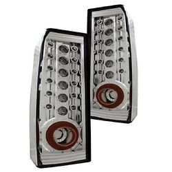 Ipcw Ledt-346c Set Of 2 Chrome Housed Clear Led Tail Lights For 06-10 Hummer H3