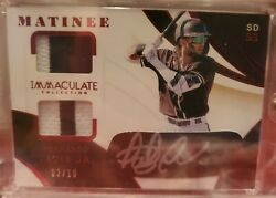 2020 Panini Immaculate Matinee Fernando Tatis Jr. 2/10 Auto Patch Jersey Ssp