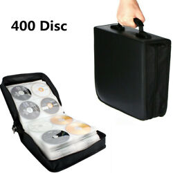 Cd Discs Dvd Carry Case Bag Blu-ray Disc Wallet Holder Cover Storage 400 Sleeves
