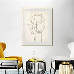 Framed Canvas Art Head 1913 By Pablo Picasso Wall Art Home Office Decorations