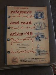 1949 Rand Mcnally World Atlas Compliments Of Lewis W. Baldwin Jr. St Louis Mo