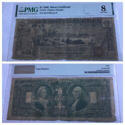 Vintage Pmg 1896 Educational Series 1 Silver Certificate One Dollar Bill Fr 224