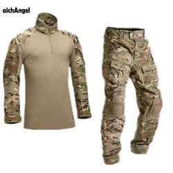 Tactical Camouflage Military Uniform Clothes Suit Men Army Clothes Military