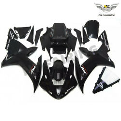 Ntu Fit For Yamaha R1 Yzf 2002-2003 Glossy Black Injection Abs Fairing Kits K048