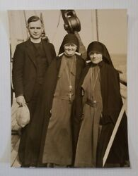 Maryknoll Order Father And 2 Sisters On Dollar Liner Pres Lincoln 1933 Press Photo