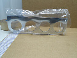 Nos 1960s Eelco 400 Aluminum Factory Chrome Plated 2 1/8 Gauge 4-hole Panel