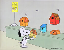 Snoopy Peanuts Production Animation Cel N Draw 1974 Melendez Easter Beagle 56-03