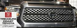 New Oem Toyota Tundra 18-21 Trd Sport Grille And Hood Bulge Mag Gray 1g3 And Emblem