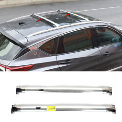 Fit For Acura Rdx 2019-2021 Chrome Roof Rail Luggage Rack Luggage Carrier 2pcs