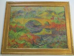 Isaacs Masterful Large Oil Painting Chunky California Impressionist Landscape