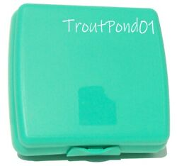 Tupperware Sandwich Keeper Original Style Og Clasp Opaque Teal Storage Container