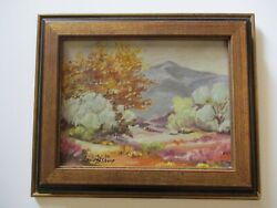 Louis Sharp Oil Painting Early California Antique Desert Landscape Painting Old