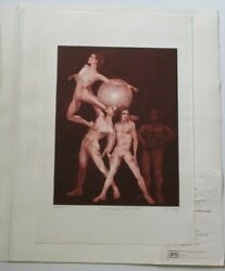G.h Rothe Etching Pencil Signed Portrait Dancers Performers Rare Limited Edition