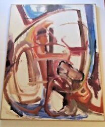 Richard Blaisdell Painting 5 Foot Abstract Expressionist Exhibited Corcoran D.c