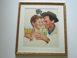 Lucky Lager Been Painting 1950and039s Rare Portrait Painting Vintage Americana Listed