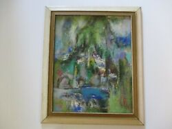 Yung-han Lee Oil Painting China Chinese Abstract Taiwan Modernist Landscape Mod