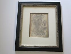 Albert Bockstael Antique Drawing Friend Style Of Magritte Linze Surreal Nude