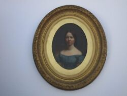 18th To 19th Century Old Master Painting Portrait Museum Quality Female Model