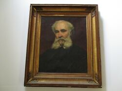 Antique Rowley Benbow Turner Portrait Painting Rare Bike Bicyclist Historic