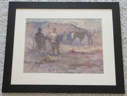 Lawrence Murphy B.1872 California Modernist Figures Horses Ranch Painting