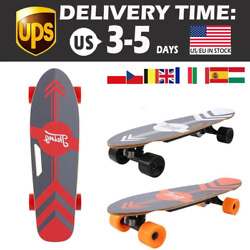 Electric Skateboard E Board Lithium Battery Powered With Remote Controller Red