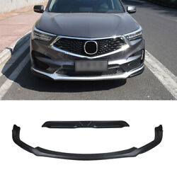 Fit For Acura Rdx 2019-2021 Black Abs Front Skid Plate Bumper Board Guard 2pcs