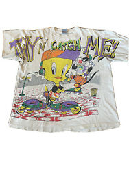 1995 Vintage Looney Tunes Tweety Bird And Sylvester The Cat T-shirt Men's Size Xl