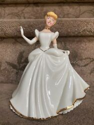 Lenox Disney Showcase Collections Cinderella Figurine 7 Gold Trimmed - Used