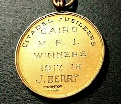 Wwi 1917 British Egypt Cairo Royal Scots Fusiliers Winners Football Gold Medal