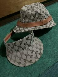 Gucci Bucket Hat and Sun Visors Set Of 2 $441.30