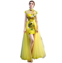 Chinese Dress Womens Banquet Annual Meeting Stage Dress Folk Music Performance L