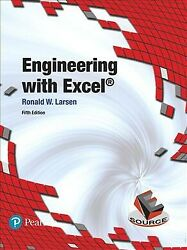 Engineering With Excel Hardcover By Larsen Ronald W. Brand New Free Shipp...