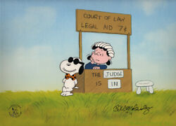 Peanuts Legal Beagle Limited Edition Of 150 Animation Cel Signed Melendez Mlc12