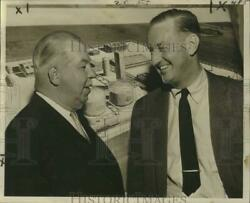 1964 Press Photo John A. Hill And E.s. Twining, Air Reduction Co. Groundbreaking