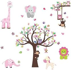 Stick Girl Nursery Wall DecalColorful Decorative Sticker for Baby Bedroom