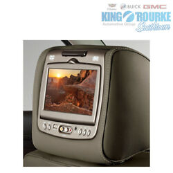 Genuine Gm Rear-seat Entertainment System With Dvd Player In Dune Vinyl 84263918
