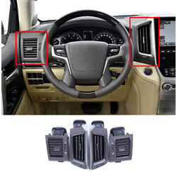 Black Middle Console Air Outlet Vent Trim Fit For Toyota Land Cruiser 2016-2021