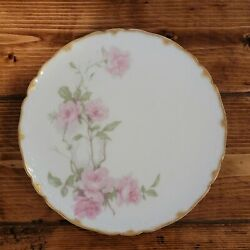 Haviland And Co France Limoges 8 1/2 Luncheon/salad Plate Baltimore Rose Pink