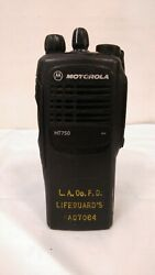 Motorola Ht750 Aah25cec9aa3an 35-50mhz 16ch 6w Low Band Radio -used-