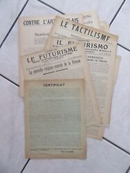 Futurism Surrealism Ensemble Of 14 Manifests Futuristes 14 Pads 1910