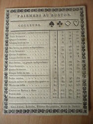 Rulers Of Game Payments To The / Of Boston Flange 1780 Rare 18° Century