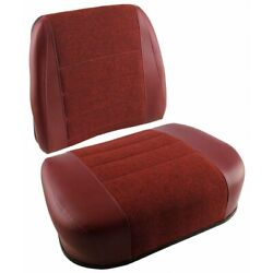 2pc. Maroon Seat Fits White Tractor 2-105 2-135 2-155 2-180 2-85