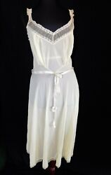 Vintage Yellow Luxite By Holeproof Waltz Night Gown, Sz 36, 30's Inspired