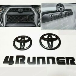 3pcs Set Overlay Matte Black Out 4runner Emblem Badge For 2014-2020 Toyota Oem