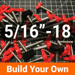 5/16-18 Build Your Own Thumb Screw Stainless Steel Tee Wing/knurled 4 Colors