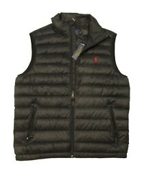 Polo Big And Tall Black Water-repellent Packable Puffer Down Vest