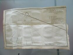 1764 Antique Map 18ème Layout Starships Ships Wing Of Anson D'acapulco