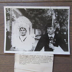 Photography Press 1937 Wedding Hungarian Costumes Married