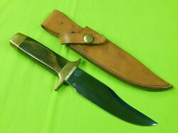 Vintage Us Smith And Wesson Bowie Survival Knife W/ Sheath